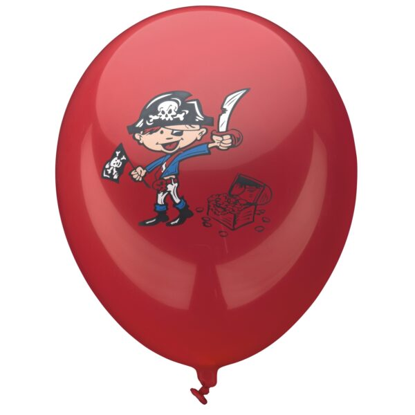 Ballonnen Piraat - 6 stuks-467