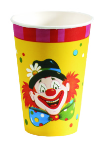 Bekers Clown - 10 stuks