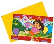 Uitnodigingen Dora en Boots - 6 stuks