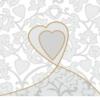 """Servet """"Love"""" - 20 stuks"""