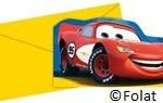 Uitnodigingen Cars - 6 stuks