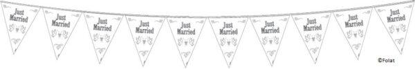 """Vlaggenlijn """"Just Married"""" - 10 meter-428"""