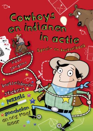 """Knutselboek voor jongens """"Cowboys en indianen in actie"""" - 1 stuk-643"""