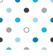 "Servet ""Polka dots blue"" - 20 stuks"