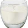 "Kaars in glas ""Bolzano"""" wit - 1 stuk"