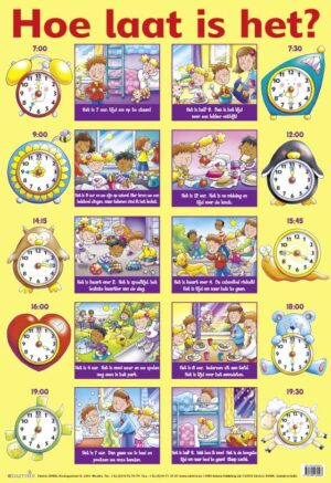 Poster: Hoe laat is het? - 1 stuk-785