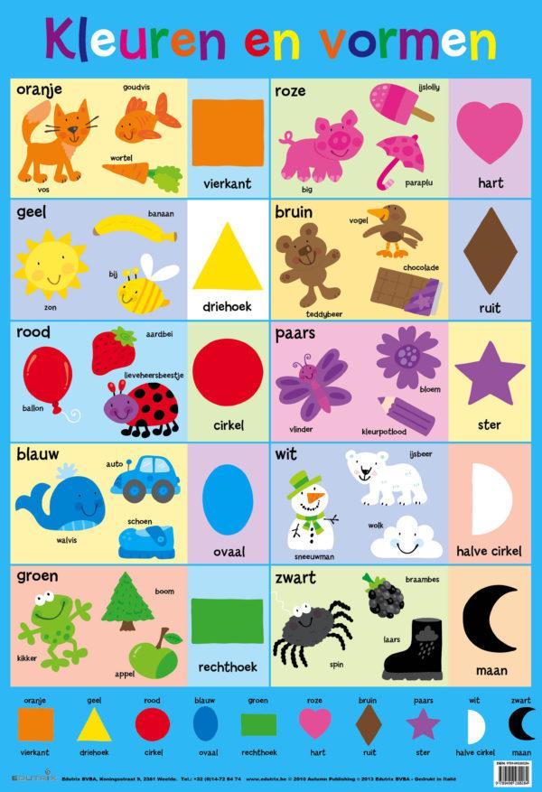 Poster: Kleuren en vormen - 1 stuk -792