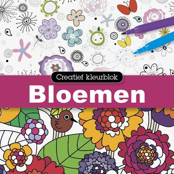 Creatief kleurblok: Bloemen