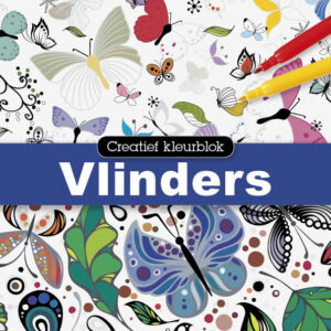 Creatief kleurblok: Vlinders