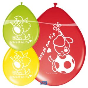 Ballonnen Woezel en Pip - 8 stuks-956