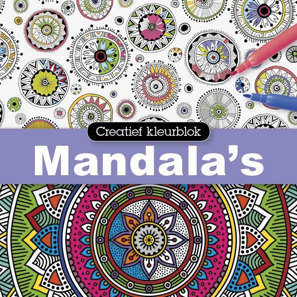 Creatief kleurblok: Mandala's - 1 stuk-1136
