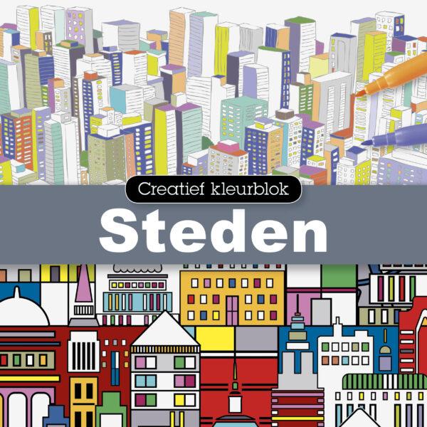 Creatief kleurblok: Steden - 1 stuk-1138