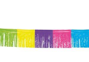 Vlaggenlijn franjes diverse kleuren