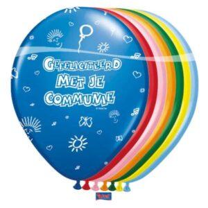 ballonnen communie assorti kleuren