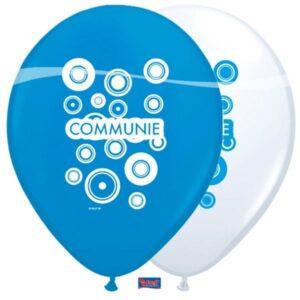 ballonnen communie blauw
