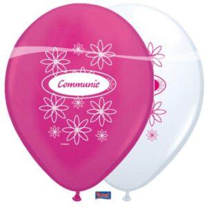 ballonnen communie roze